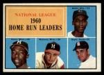 1961 Topps #43  NL HR Leaders  -  Hank Aaron / Ernie Banks / Ken Boyer / Eddie Mathews Front Thumbnail