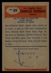 1955 Bowman #89  Charley Toogood  Back Thumbnail