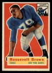 1956 Topps #41   Roosevelt Brown Front Thumbnail