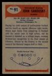 1955 Bowman #91   John Sandusky Back Thumbnail