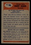 1955 Bowman #96  Harry Jagade  Back Thumbnail
