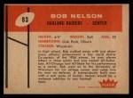 1960 Fleer #83   Bob Nelson Back Thumbnail