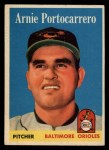1958 Topps #465  Arnie Portocarrero  Front Thumbnail