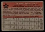 1958 Topps #481  All-Star  -  Frank Malzone Back Thumbnail