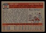 1957 Topps #55  Ernie Banks  Back Thumbnail