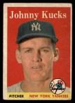 1958 Topps #87  Johnny Kucks  Front Thumbnail