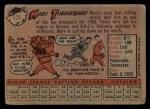 1958 Topps #175   Marv Throneberry Back Thumbnail