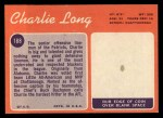 1970 Topps #188  Charles Long  Back Thumbnail