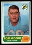 1968 Topps #92  Tom Goode  Front Thumbnail