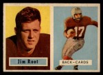 1957 Topps #112  Jim Root  Front Thumbnail