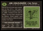 1969 Topps #8   Jim Colclough Back Thumbnail