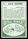 1968 Topps #46   Dan Grimm Back Thumbnail