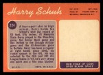 1970 Topps #224  Harry Schuh  Back Thumbnail