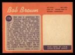 1970 Topps #178   Bob Brown Back Thumbnail