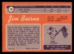 1970 Topps #19   Jim Beirne Back Thumbnail