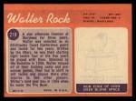 1970 Topps #218   Walter Rock Back Thumbnail