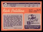 1970 Topps #203  Richie Petitbon  Back Thumbnail