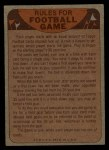1974 Topps Football Team Checklists #7   Cowboys Team Checklist Back Thumbnail
