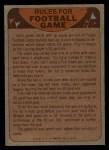 1974 Topps Football Team Checklists #18   Giants Team Checklist Back Thumbnail