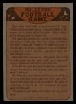 1974 Topps Football Team Checklists #11   Oilers Team Checklist Back Thumbnail