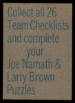 1973 Topps Football Team Checklists #1  Atlanta Falcons  Back Thumbnail