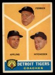 1960 Topps #461  Tigers Coaches  -  Tom Ferrick / Luke Appling / Billy Hitchcock Front Thumbnail