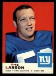 1969 Topps #106   Greg Larson Front Thumbnail