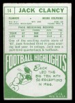 1968 Topps #14  Jack Clancy  Back Thumbnail
