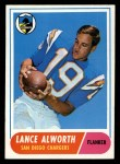 1968 Topps #193   Lance Alworth Front Thumbnail