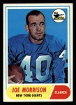 1968 Topps #211  Joe Morrison  Front Thumbnail