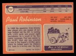 1970 Topps #137  Paul Robinson  Back Thumbnail