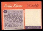 1970 Topps #229   Billy Shaw Back Thumbnail