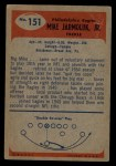1955 Bowman #151   Mike Jarmoluk Back Thumbnail