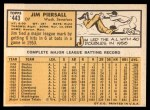 1963 Topps #443  Jimmy Piersall  Back Thumbnail