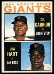 1964 Topps #452   Giants Rookie Stars  -  Gil Garrido / Jim Ray Hart Front Thumbnail