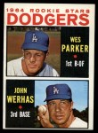 1964 Topps #456  Dodgers Rookies  -  Wes Parker / John Werhas Front Thumbnail