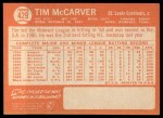1964 Topps #429   Tim McCarver Back Thumbnail