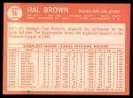 1964 Topps #56   Hal Brown Back Thumbnail