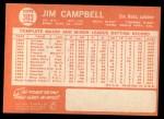 1964 Topps #303  Jim Campbell  Back Thumbnail