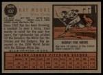 1962 Topps #437   Ray Moore Back Thumbnail