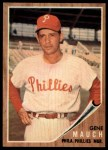 1962 Topps #374   Gene Mauch Front Thumbnail