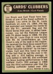 1967 Topps #63  Cards Clubbers  -  Lou Brock / Curt Flood Back Thumbnail