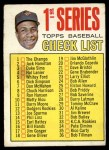 1967 Topps #62 A Checklist 1  -  Frank Robinson Front Thumbnail