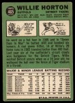 1967 Topps #465  Willie Horton  Back Thumbnail