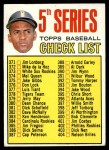 1967 Topps #361  Checklist 5  -  Roberto Clemente Front Thumbnail