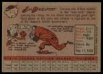 1958 Topps #413   Jim Davenport Back Thumbnail