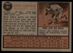 1962 Topps #381   Leo 'Chico' Cardenas Back Thumbnail