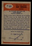 1955 Bowman #51  Ray Krouse  Back Thumbnail