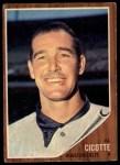 1962 Topps #126 A Al Cicotte  Front Thumbnail