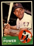 1963 Topps #40 WHI  Vic Power Front Thumbnail